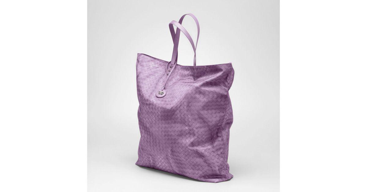 d91bf85ae6 Lyst - Bottega Veneta Corot Intrecciolusion Maxi Tote in Purple