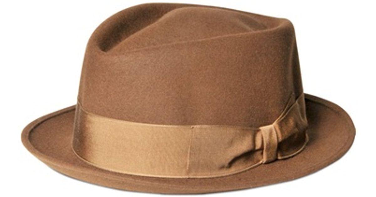 348e780b064531 Borsalino Rain Proof Fur Felt Pork Pie Hat in Brown for Men - Lyst