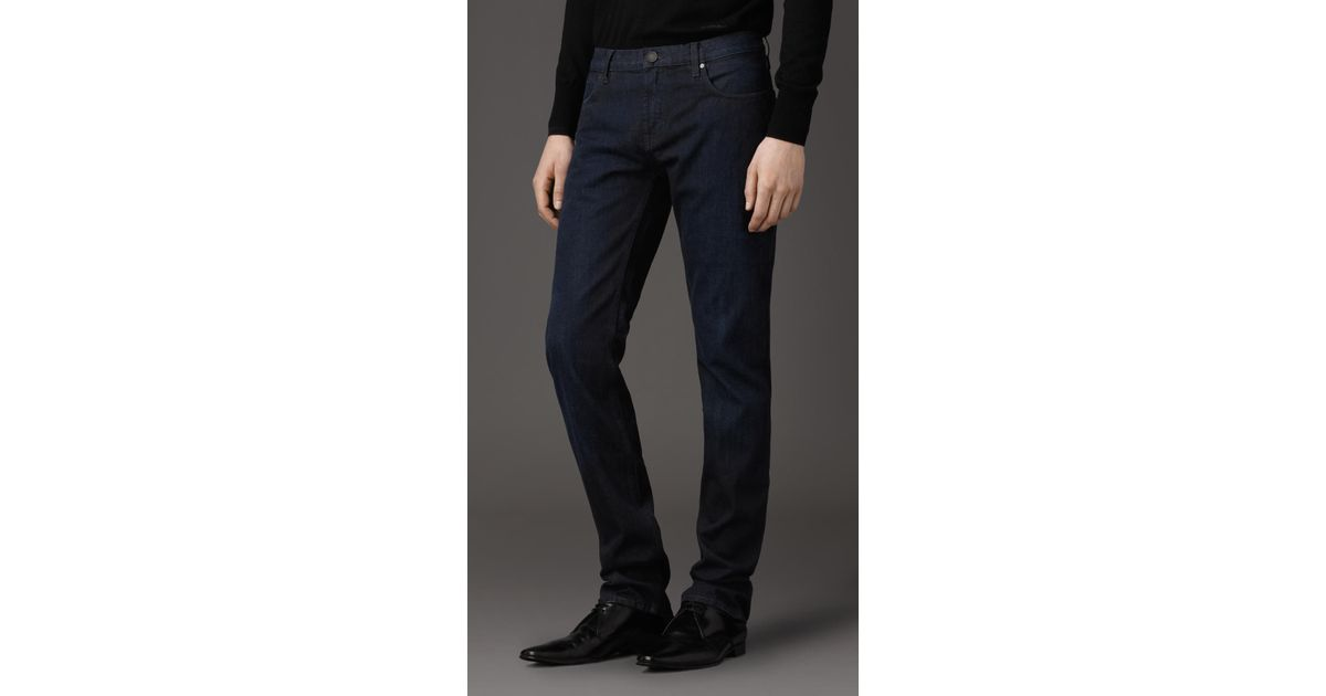 1e9847872a4df Lyst - Burberry Steadman Saturated Indigo Slim Fit Jeans in Blue for Men