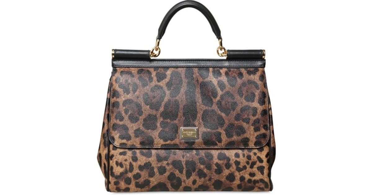 Lyst - Dolce   Gabbana Miss Sicily Leopard Print Top Handle Bag 0de835b7e2