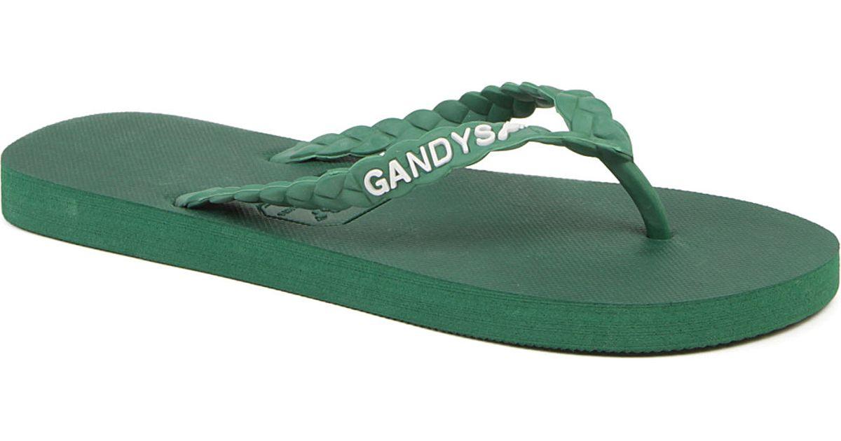 b6b6c78dc5c3 Gandys Durban Green Flip Flops in Green - Lyst