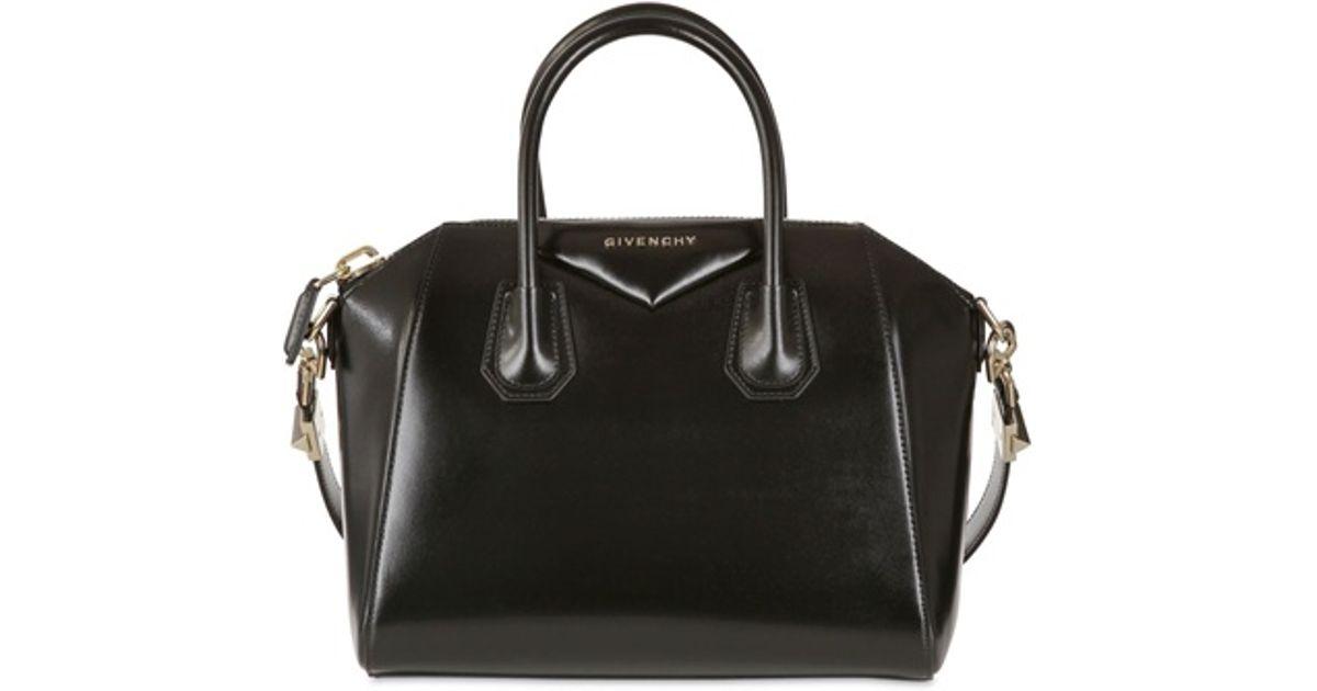 99e44779f0c Givenchy Small Antigona Shiny Smooth Leather Bag in Black - Lyst