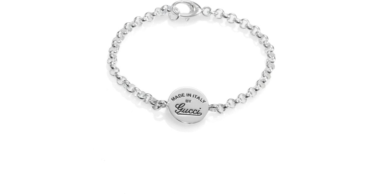 f3e42e2ba Gucci Gg Craft Sterling Silver Signature Chain Bracelet in Metallic - Lyst