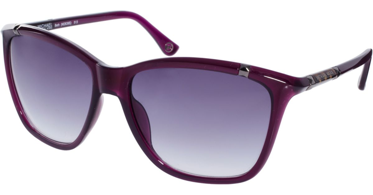 94e8f4acd9 Lyst - Michael Kors Beth Sunglasses in Purple
