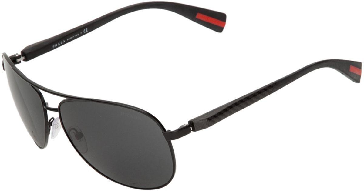 27b8e7d483 Lyst - Prada Aviator Sunglasses in Black for Men