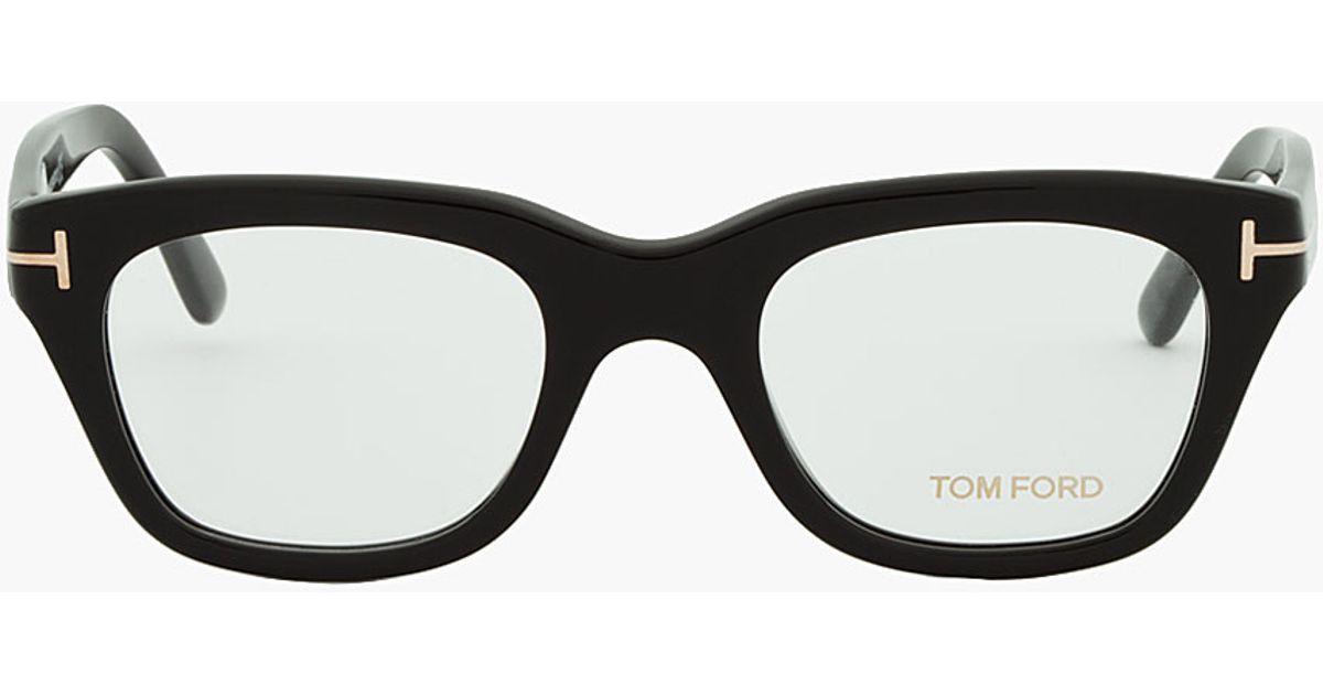 c4b5cf70dd0b Lyst - Tom Ford Black Thick Frame Cat Eye Glasses in Black for Men