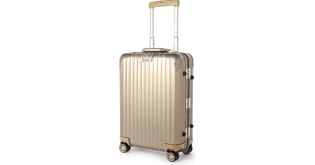 rimowa topas titanium four wheel cabin suitcase 55cm in metallic lyst. Black Bedroom Furniture Sets. Home Design Ideas