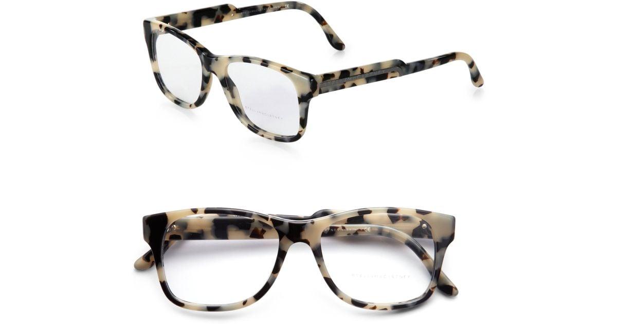 1cdcfbc52f1a Stella McCartney Oversized Square Optical Glasses grey Tortoise Print in  Gray - Lyst
