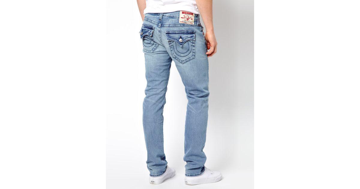 605d8448ac7 True Religion Jeans Zach Slim Fit Flap Pocket Mid Drifter Wash in Blue for  Men - Lyst