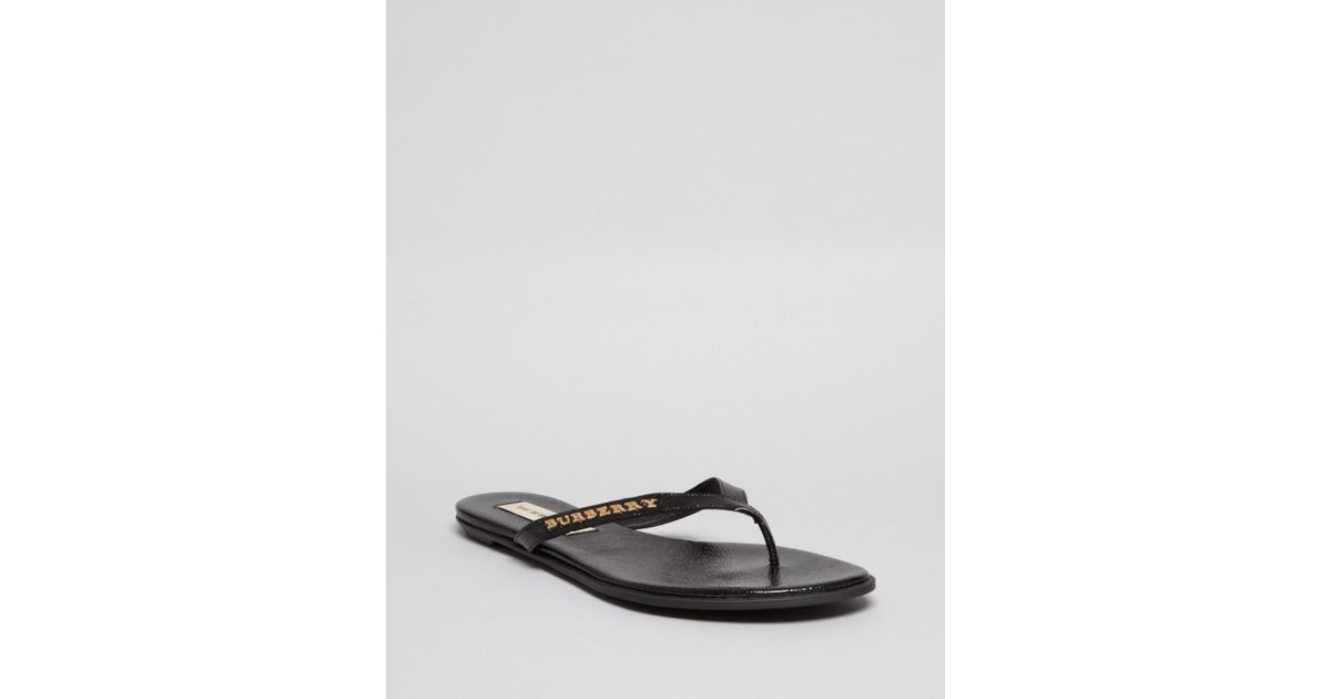 84986e7bd73 Lyst - Burberry Flip Flop Thong Sandals Bloomhall in Black