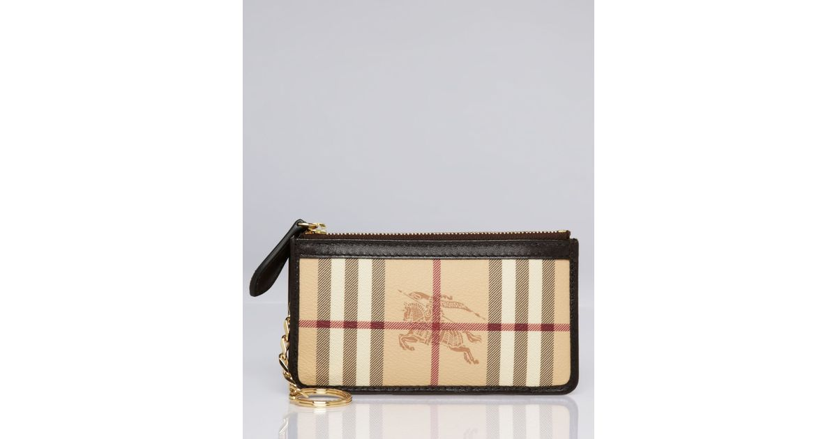 fd0635352be Lyst - Burberry Coin Case Haymarket Lindal in Brown