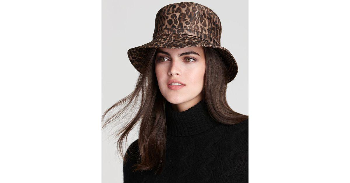 99cd2d579f2c0 Eric Javits Rain Bucket Hat in Brown - Lyst