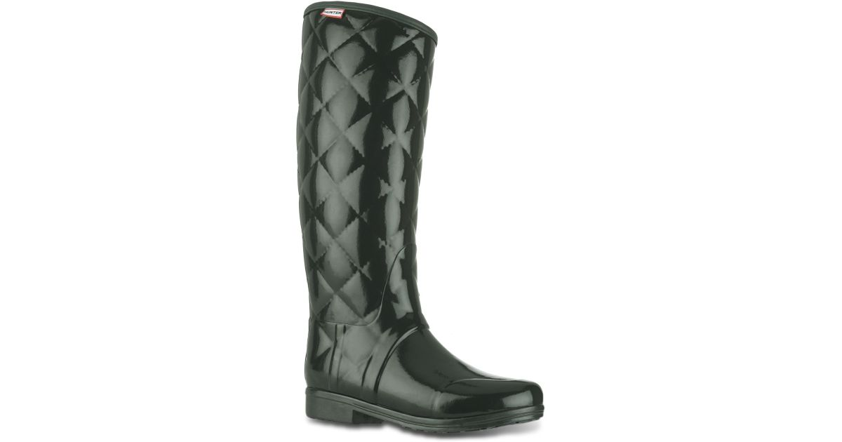 check out 7278c 181ff HUNTER - Green Regent Savoy Rain Boots - Lyst
