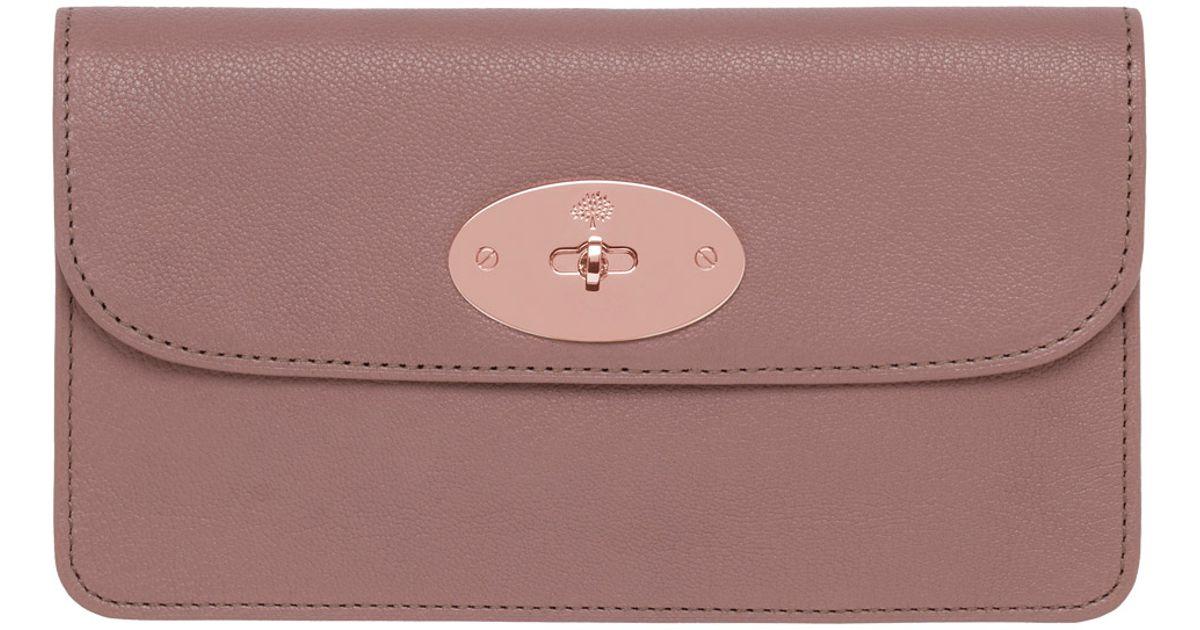 347db1d600 ... australia lyst mulberry long locked purse in pink 8c674 06071