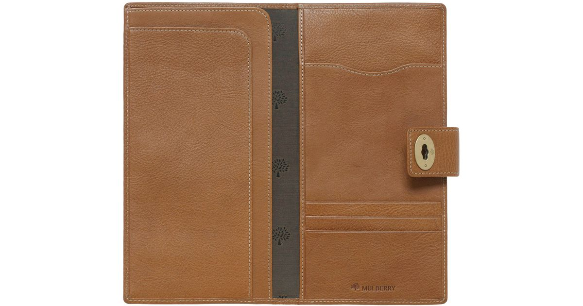 9789771d39 Mulberry Womens Travel Wallet in Brown for Men - Lyst
