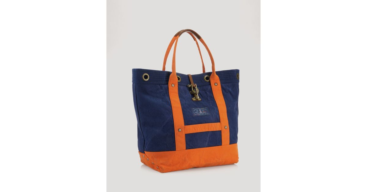 419b792a9267 Ralph lauren Polo Naval Surplus Colorblocked Canvas Tote in Blue for Men