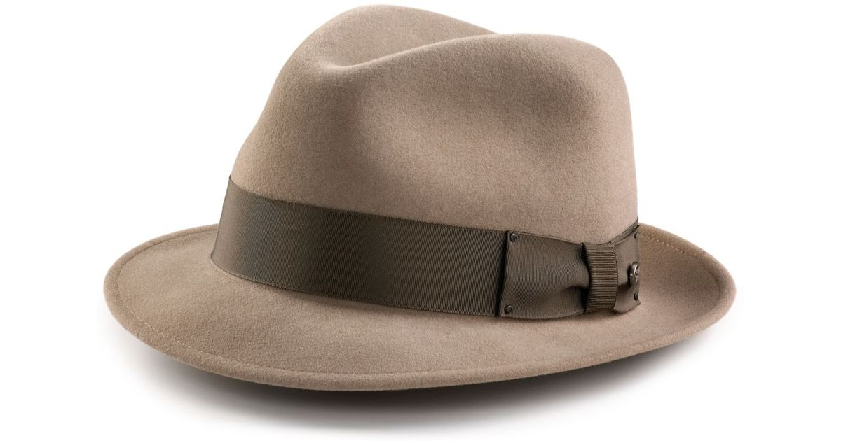690ffe6d074ea Lyst - Bailey of Hollywood Perry Center Dent Hat in Natural for Men
