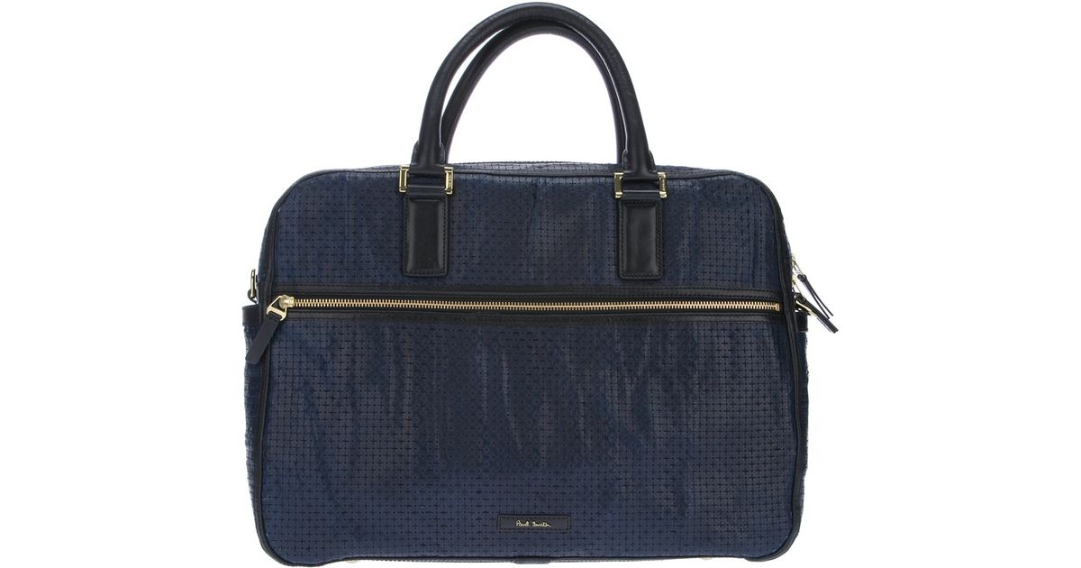 5789850f7ad Lyst - Paul Smith Perforated Carry Bag in Blue for Men