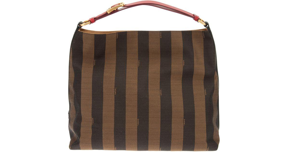 free shipping fendi handbag zucca hobo 8br682 a1d5b 1bb2d  shop lyst fendi  pequin hobo bag in brown c9cad a3a17 0f6f93a8d056a