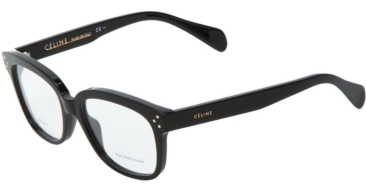b5e2d7c90aa Lyst - Céline Square Glasses in Black