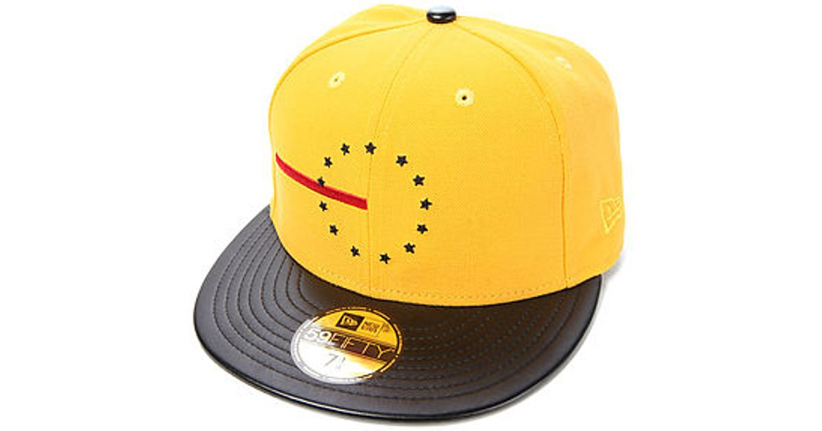 25dd1beb253 Lyst - Black Scale The Red Line Rebel Fitted Hat in Yellow for Men