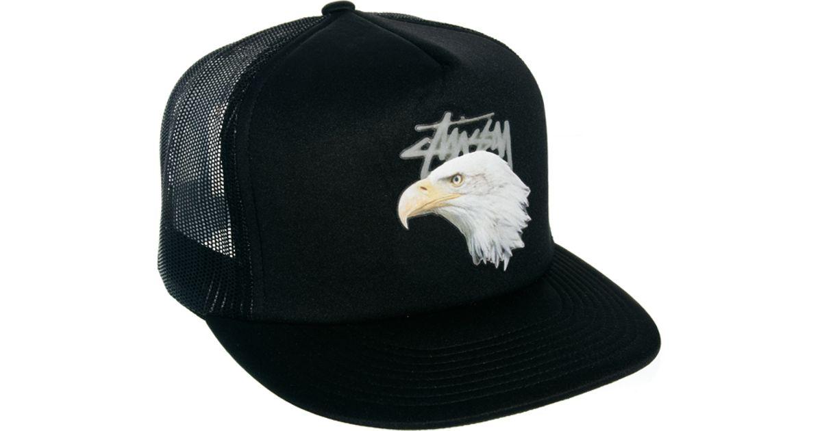 Lyst - Stussy Trucker Cap in Black for Men 13a112ea6de