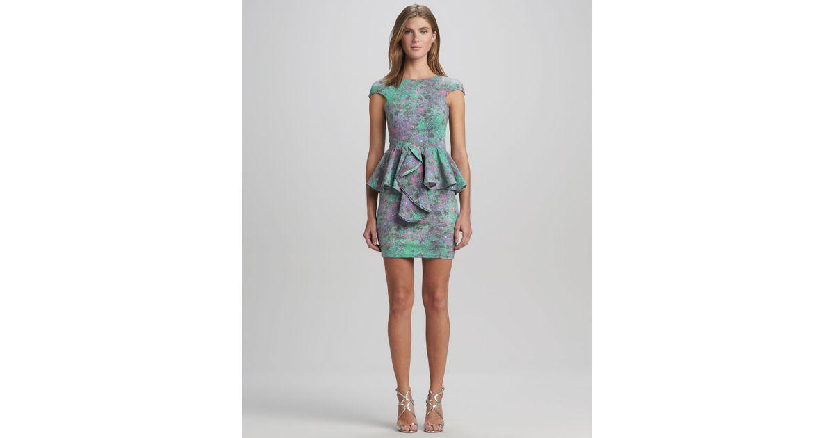Talulah Divine Stone Peplum Dress Turquoise in Blue | Lyst