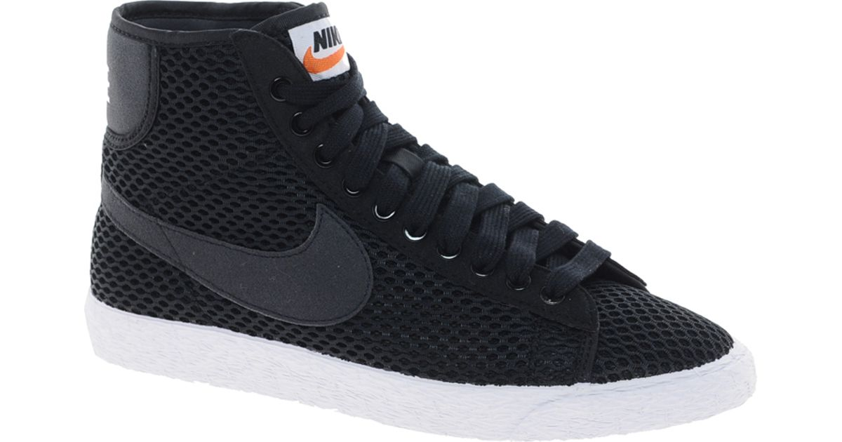 finest selection a81f6 2da05 ... discount code for lyst nike blazer mid mesh black high top trainers in  black 4f41f 56098