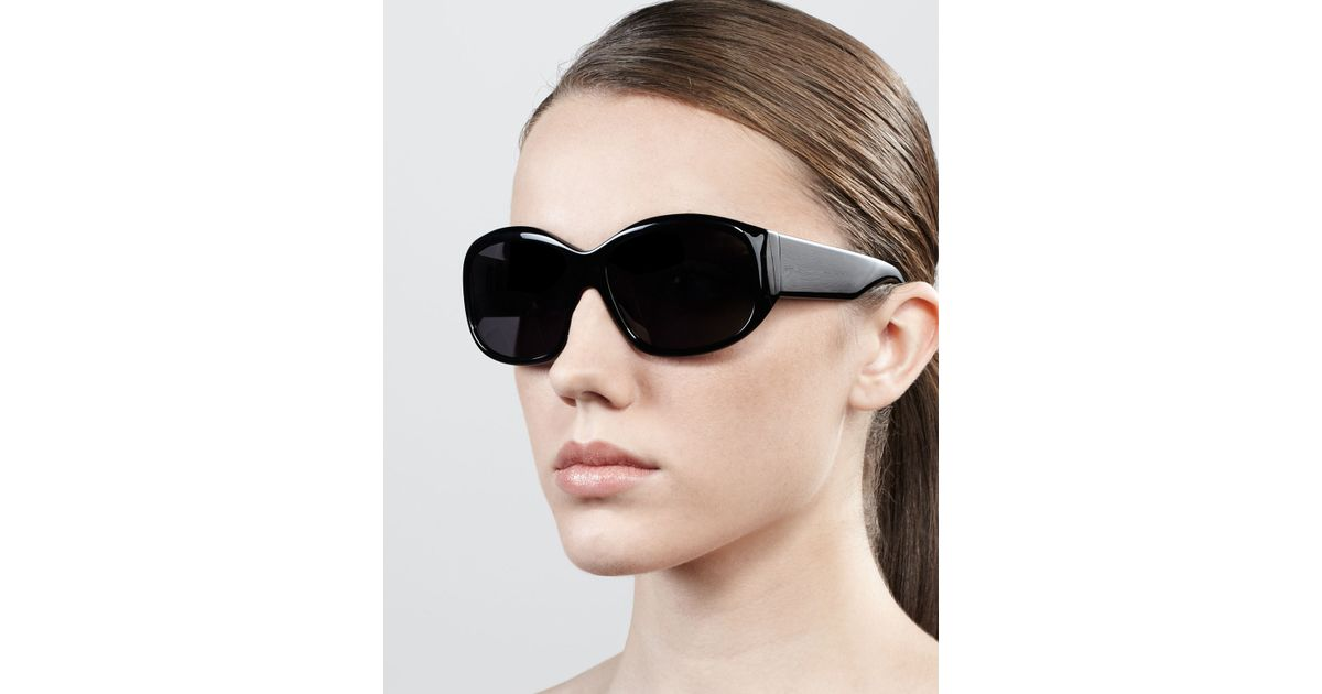 Oversized Oval Sunglasses  oliver peoples rovella oversized oval sunglasses black in black lyst