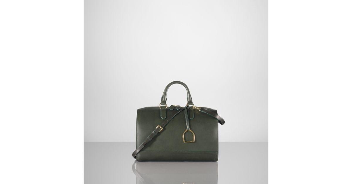 32c4706657 Lyst - Ralph Lauren Vachetta Stirrup Boston Bag in Green