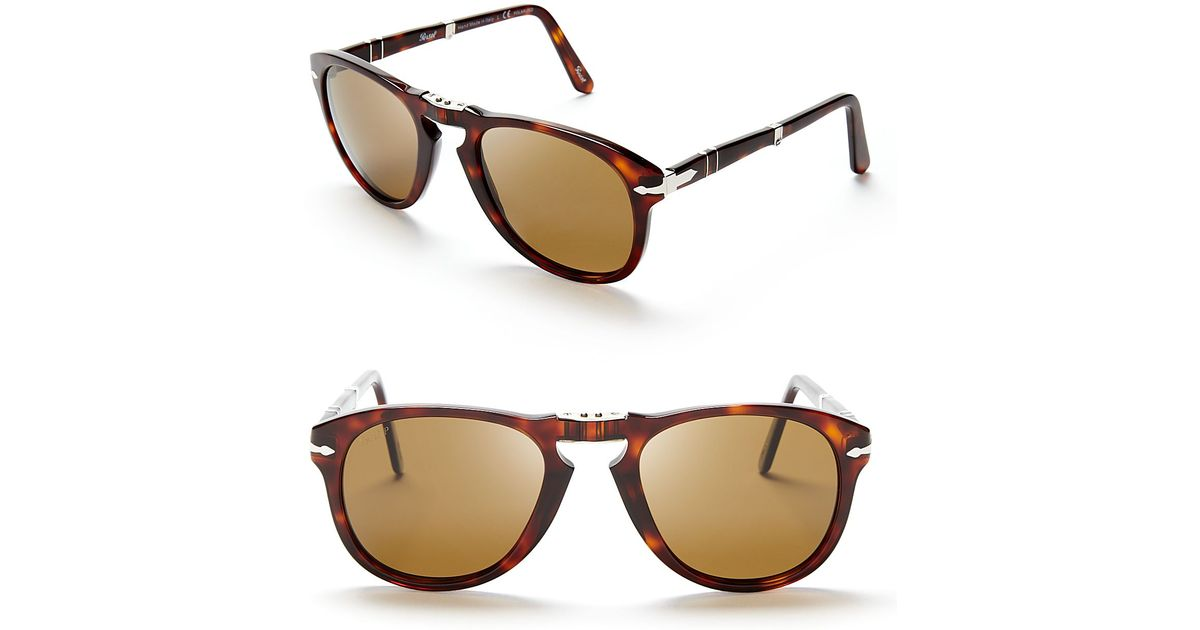 d43dcbedcc Persol Suprema Folding Polarized Keyhole Sunglasses in Brown for Men - Lyst