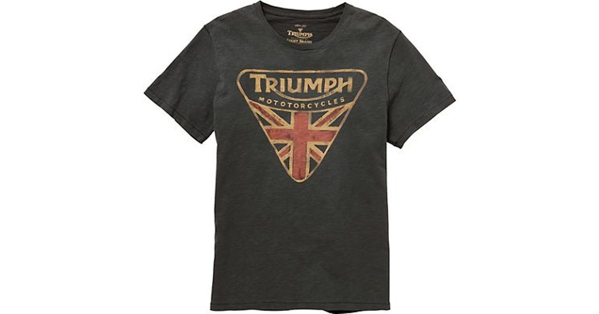 Lucky brand triumph badge tee in green for men 1618 coal for Lucky brand triumph shirt