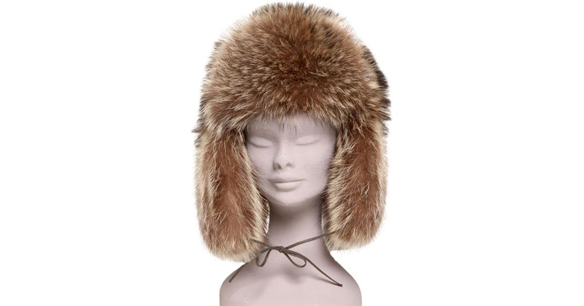 Lyst - Borsalino Marmot Fur Hat in Brown b984b3dc7c06