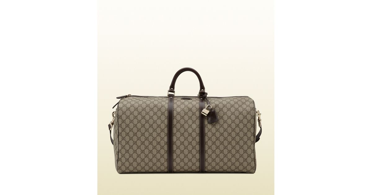 84b9256a0649 Gucci Large Carry-on Duffle Bag in Brown for Men - Lyst