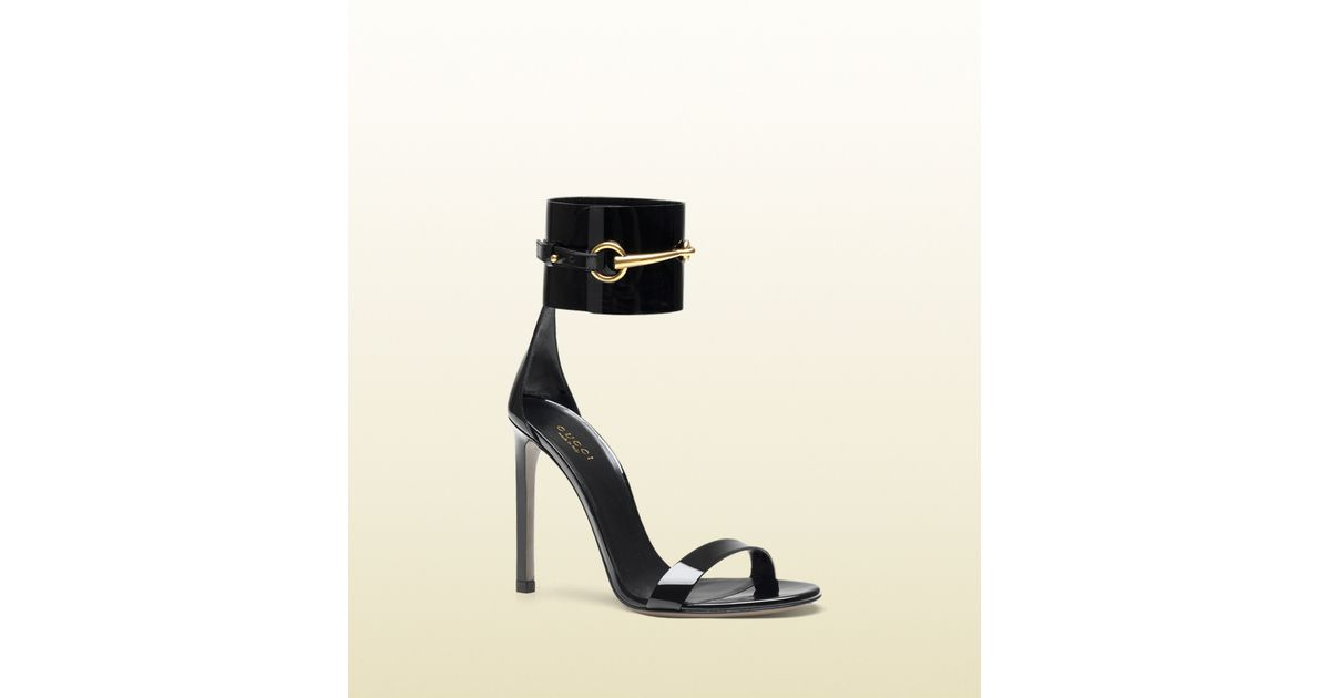 4aa1a8229 Gucci Ursula Anklestrap High Heel Sandal in Black - Lyst