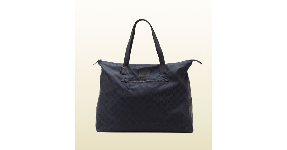 b404824aa38e Lyst - Gucci Blue Gg Nylon Duffel Bag From Viaggio Collection in Blue for  Men