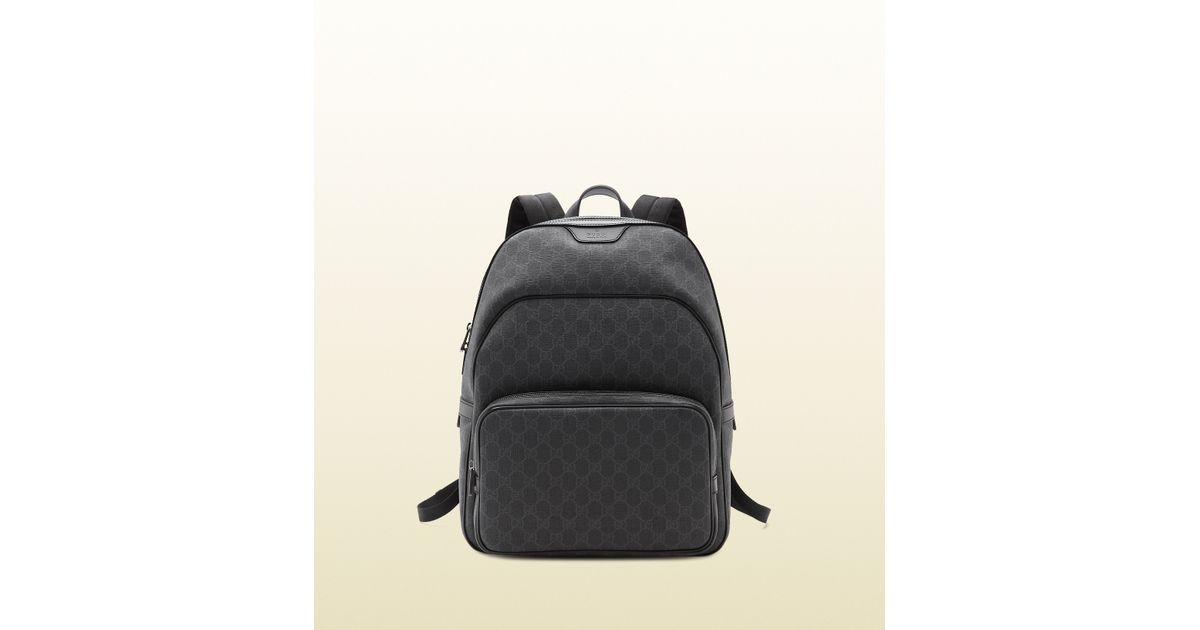 4629ca7006c396 Lyst - Gucci Gg Supreme Canvas Backpack in Gray for Men