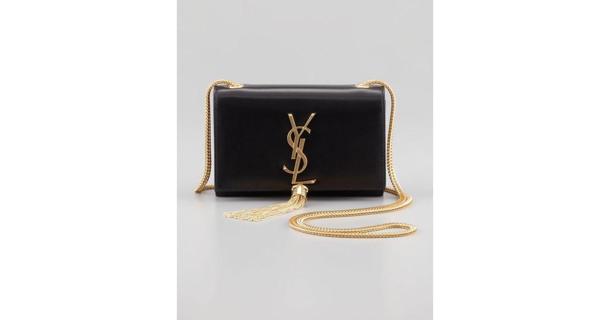 b82b381fb636 ... yves saint laurent handbags outlet - Saint laurent Cassandre Small  Tassel Crossbody Bag in Black ...