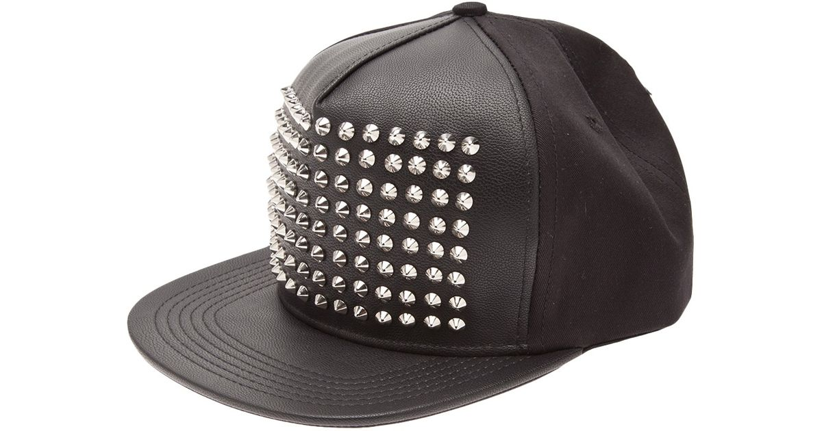 Lyst - Stampd Studded Snapback Hat in Black for Men b64a6abbfba