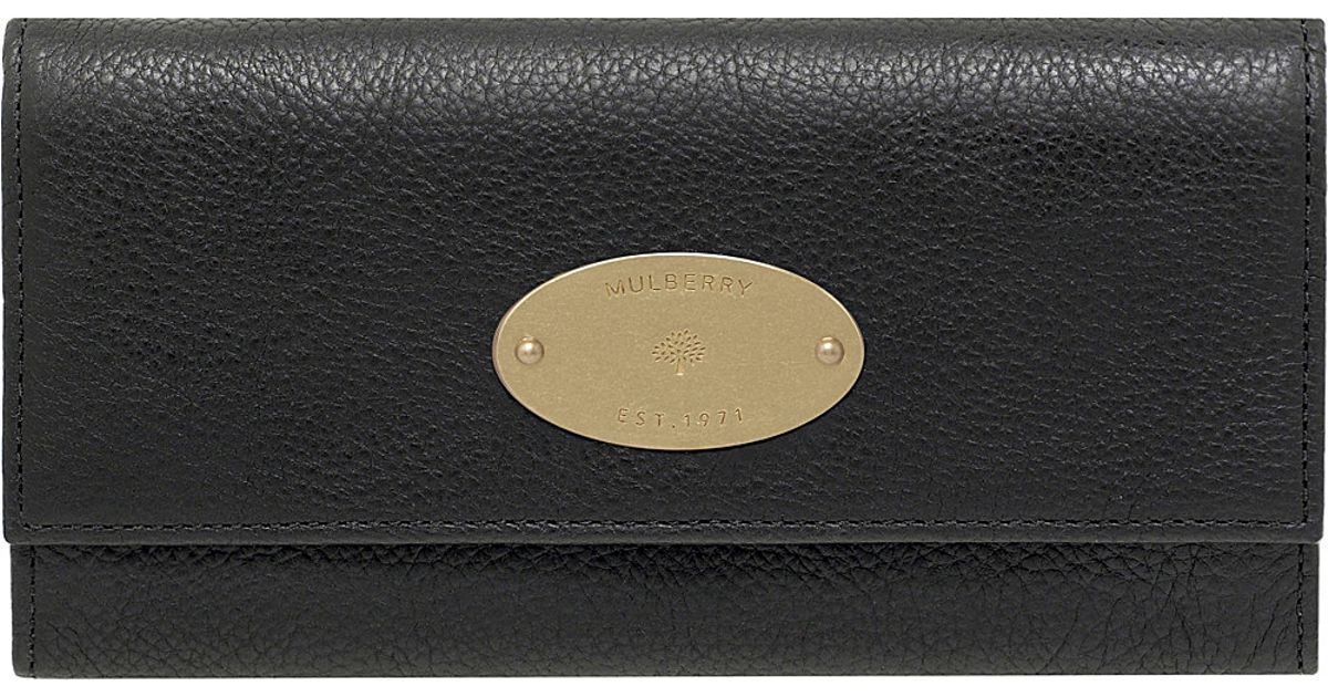 771275eddad ... free shipping mulberry continental wallet in black lyst f43bf 329dd