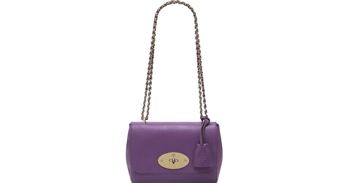 Mulberry Lily Glossy Goat Leather Shoulder Bag in Purple - Lyst f8c9e43ca5