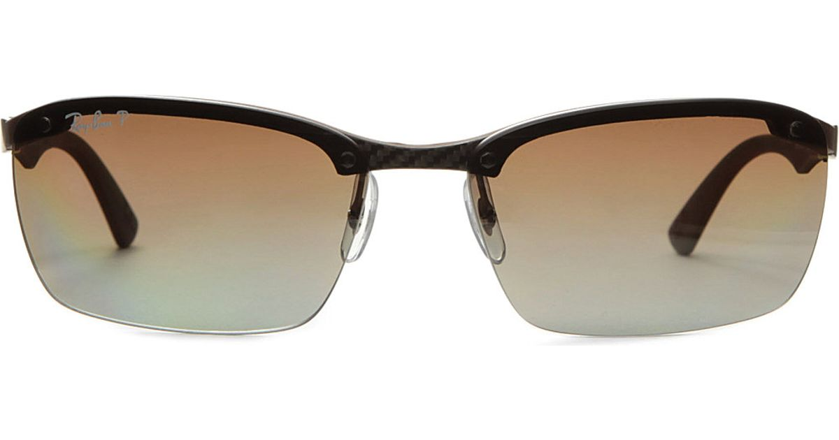 ray-ban-dark-carbonbrown-frameless-sunglasses-product-1 ...