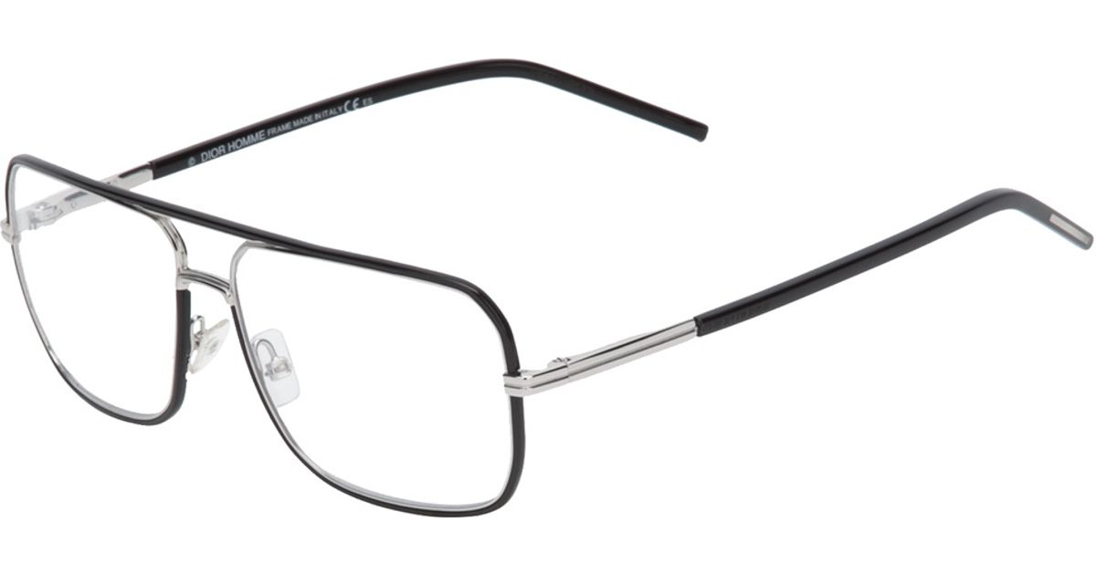 dior homme square frame glasses in black for men lyst