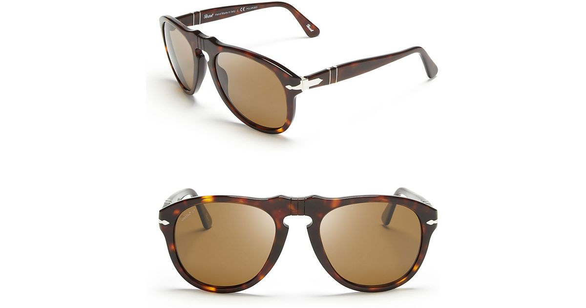 4c96d1d7c5 Persol Suprema Polarized Retro Keyhole Sunglasses in Brown for Men - Lyst