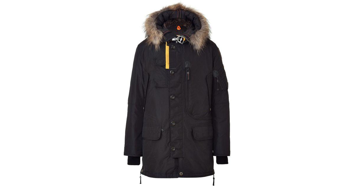 parajumpers men's kodiak jacket black down parka