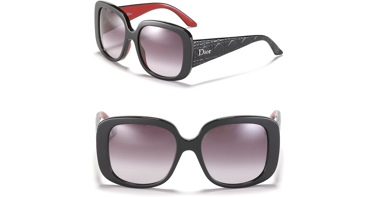 76971bd7134 Lyst - Dior Oversized Round Sunglasses With Logo On Temple in Black
