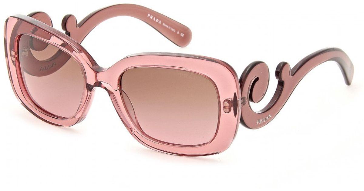 7f6dfffaf442 ireland lyst prada minimal baroque sunglasses in pink 5e6c5 8d3ad