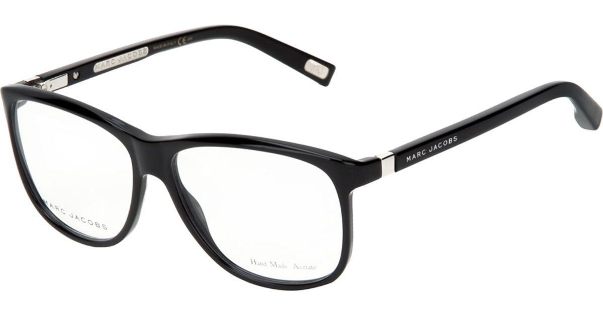 Lyst - Marc Jacobs Square Frame Glasses in Black