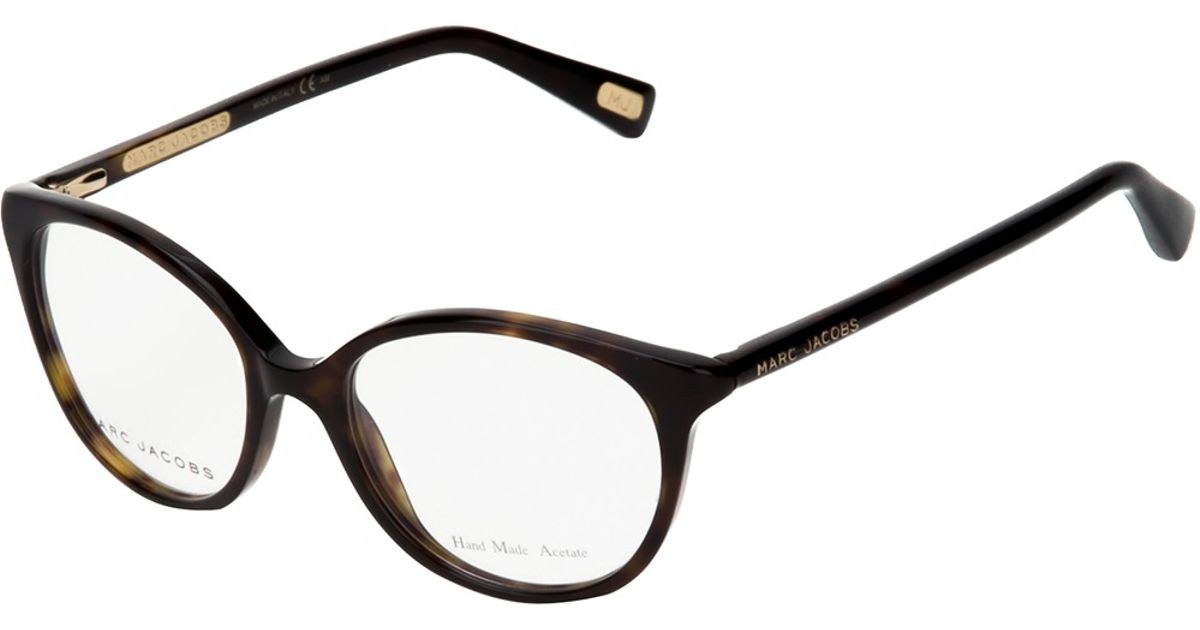 Marc Jacobs Cat Eye Glasses in Brown - Lyst ca1189829cba