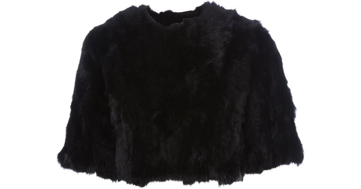 52893ea09c Lyst - Pinko Fur Bolero in Black